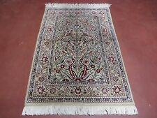 3' X 4' Vintage Kayseri Turkish Hand Man Made Silk Rug Carpet Tree Of Life Bird