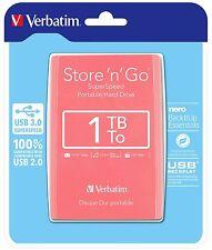 Verbatim 53173 Portable Hard Drive HDD Super Fast USB 3.0 1TB  PINK