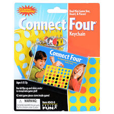 Connect Four 4 Mini Game Key Ring Chain Travel Game Box Board & Pieces Included