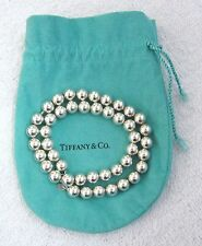 """LQQK Beautiful Tiffany & Co 925 Sterling Silver Bead Necklace 18"""" long Free Ship"""