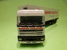MATCHBOX DAF 3300 SPACE CAB TRUCK + TRAILER - EUROTRANS - WHITE 1:50 - VG