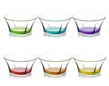 12 x Set Artcraft Multicolored Dessert / Starter Bowl Glass Boxed Great for Gift