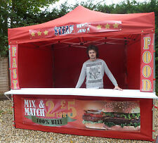 Mobile Catering Trailer Printed Burger Van Hot Dog Gazebo Sweet Gazebo Coffee ^