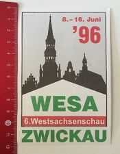 ADESIVI/Sticker: wesa Zwickau - 6. West assi guarda'96 (170416195)