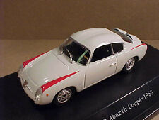 Starline 1/43 Diecast 1956 Fiat 750 Abarth Coupe with LHD, White w/Red #517416