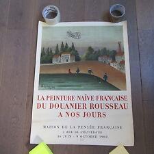affiche DOUANIER ROUSSEAU 1960 MOURLOT