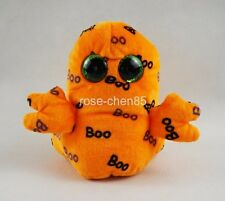 "Ghoulie Ty Beanie Boos 6"" Halloween Orange Ghost Plush Stuffed Animals Toys"