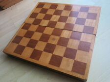Victorian / Edwardian Oak chessboard / backgammon board VGC (but fixed open)