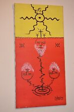 ABSTRACT Weird Odd Surrealism OCCULT Surreal Signed Original ART CANVAS PAINTING