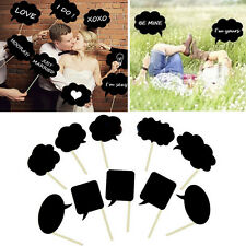 DIY Photo Booth Prop Wedding Birthday Party Black Card Chalk board Stick Pop MW