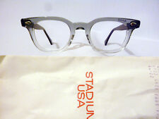 Vintage American Optical Arnel Style Hybrid Grey Fade with Spear Shields 44-22