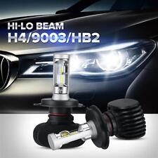 H4 9003 HB2 6000LM 160W LED Headlights Kit 6500K White High +Low Dual Beam Bulbs