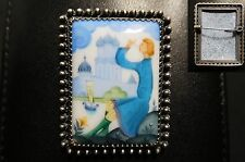 Superbe broche Russe VINTAGE - faience