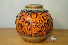 JASBA 60s 70s GERMAN VINTAGE FAT LAVA MOONCRATER BUBBLE SPACE AGE BRUTALIST VASE