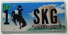 Wyoming 2009 VANITY License Plate 1 SKG