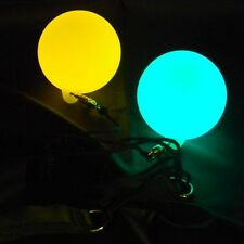 LED Glow Poi - Fade Through 7 Colours - Glow Spinning - Light Up Poi Balls
