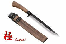Kanetsune Large Kiwami Fixed Blade Super Blue Steel w/ Wood Sheath KB-117