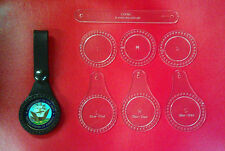 CHALLENGE COIN FOB TEMPLATE SET FOR LEATHER CRAFTERS - 3 SIZES