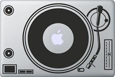 Apple MacBook Air Pro DJ  Spinn Aufkleber Sticker Skin Decal Schallplatte