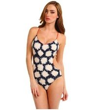 MARC BY MARC JACOBS Womens Blue Sparks Peek A Boo Crossback Maillot Swimsuit XL