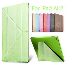 Luxury Ultra Slim Smart Cover Wake PU Leather Stand Case for Apple iPad Air 2