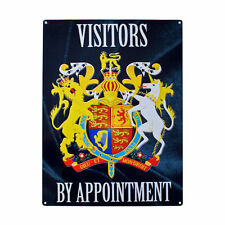 Visitors by Appointment, Door Access Warning, Exclusive, Small Metal/Tin Sign