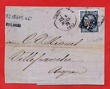 N° 45 C-SEUL SUR LETTRE TRONQUÉE-TOULOUSE-02/03/1871-MARGES ++