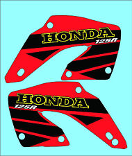 2000-2001 HONDA CR 125 RADIATOR SCOOP GRAPHICS, DECALS, STICKERS