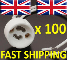 100 x GU10 Lamp Holder Mains Base Connector Downlighter Fitting UK supplier bulb