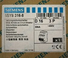 Siemens 5SY8-316-8, 16 Amp, 3 Pole, Curve D, Circuit Breaker - NEW