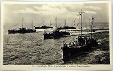 Cartolina Marina - Squadriglia M.A.S. Antisiluranti In Manovra Di Spiegamento -