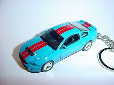 NEW 3D BLUE 2010 FORD MUSTANG SHELBY GT500 CUSTOM KEYCHAIN keyring key racing 10