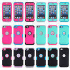 For iPod Touch 6th /5th Gen Hybrid Shockproof High Impact Rubber Hard Case Cover