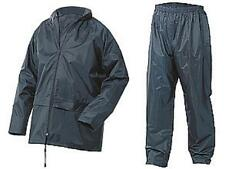 Lightweight Waterproof Rain Jacket & Trousers Navy Nylon size XXL