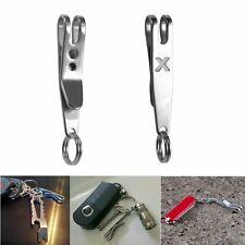 Outdoor Hiking Buckle Carabiner Suspension Clip Hook with Keyring For Flashlight
