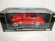 Welly 1941 Chevrolet Special Deluxe Red (Die-cast 1:18 Scale)