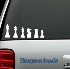 F1006 CHESS FAMILY Decal Sticker Car Truck SUV Van Laptop WINDOW SURFACE MIRROR