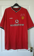 Mens Football Shirt Shorts - Manchester United Home 2000 RYAN GIGGS TESTIMONIAL