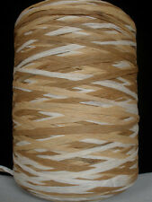 RAFFIA PAPER VINTAGE TUBE AUTUMN BROWN COMBO CRAFTS YARN