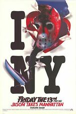 FRIDAY 13TH 8 JASON TAKES MANHATTAN 1989 Advance 27x40 US 1 Sheet Movie Poster