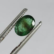 1.45 cts faceted emerald oval cut zambia
