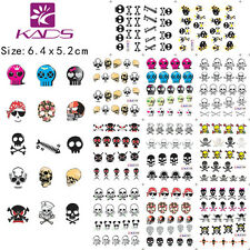 11 Sheets/Lot skull Cartoon Nail Stickers Water Transfer Decal #BLE1192-1202