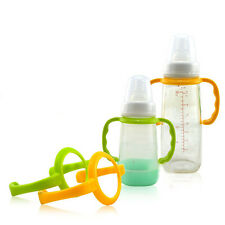 1pc Protable Easy Grip Baby Feeding Bottle Non-slip Handle Safe New Design Sale