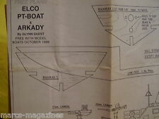 A MODEL BOAT PLAN ELCO PT BOAT & ARKADY  ON A3