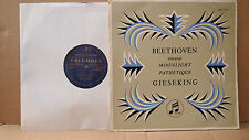 COLUMBIA 33CX 1073 AUS ED 1 PRESS BEETHOVEN PIANO SONATAS GIESEKING EX COND RARE