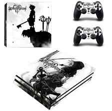 Kingdom Hearts PS4 Pro Skin Stickers Sny Playtation 4 Pro console +2 Controllers
