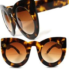 Tortoise Celebrity Fashion Vintage Retro Womens Oversized Cat Eye Sunglasses F92