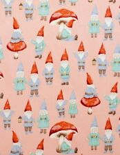 Alexander Henry 2015 - 7958A Pink Gnome Sweet Gnome Cotton Fabric BTY