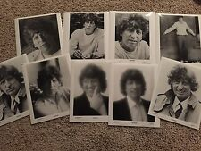 TOM BAKER lot of 9 rare vintage B/W 10x8 portrait stills DOCTOR WHO