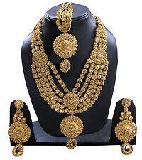 Designer Kundan Polki Necklace set with earrings jewellery sets free shipping